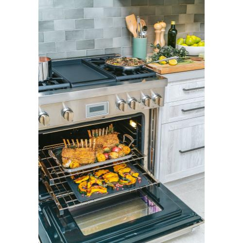 Dual Fuel Professional Range 36'' Pro Harmony® Standard Depth Stainless Steel PRD364WDHU