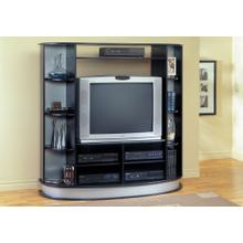 See Details - TV STAND - BLACK ENTERTAINMENT CENTER