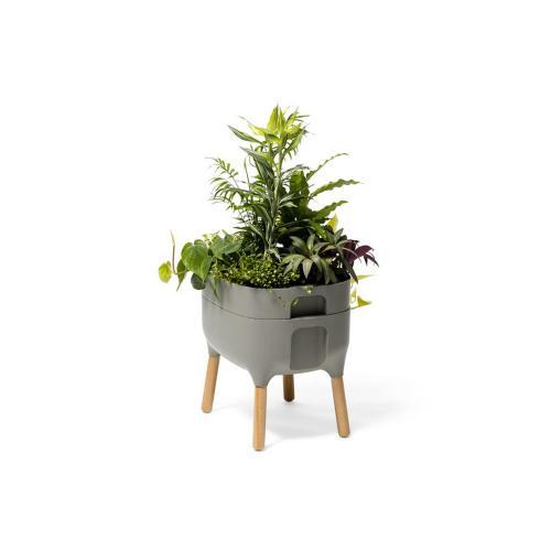 Urbalive Low Self Watering Planter w/ FSC hardwood legs
