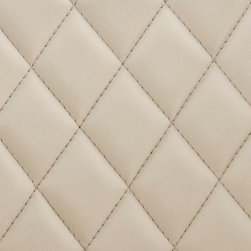 Armen Living - Leland Adjustable Cream Faux Leather and Chrome Finish Bar Stool