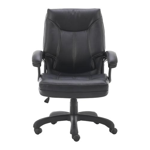 Office Star - Thick padded contoured seat and back with built-in lumbar support