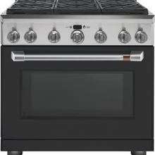 "Café 36"" Dual Fuel Professional Range with 6 Burners Matte Black"