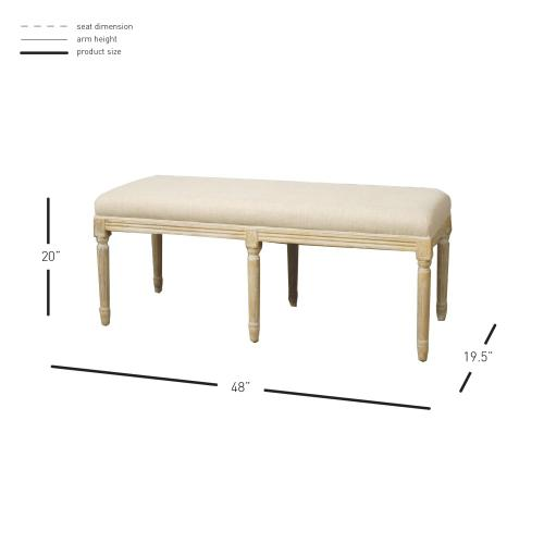 Madeline Bench, Flax