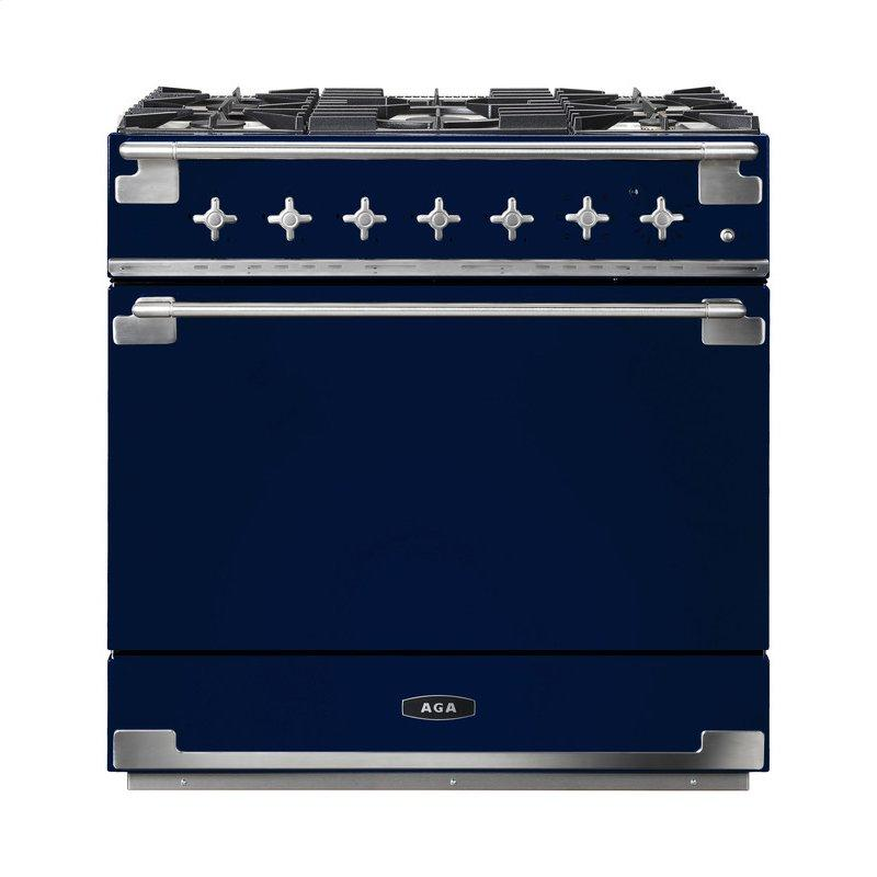 AGA Elise 36 Dual Fuel Midnight Sky with Chrome trim
