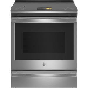 "GEGE Profile™ 30"" Smart Slide-In Front-Control Induction Fingerprint Resistant Range with In Oven Camera"