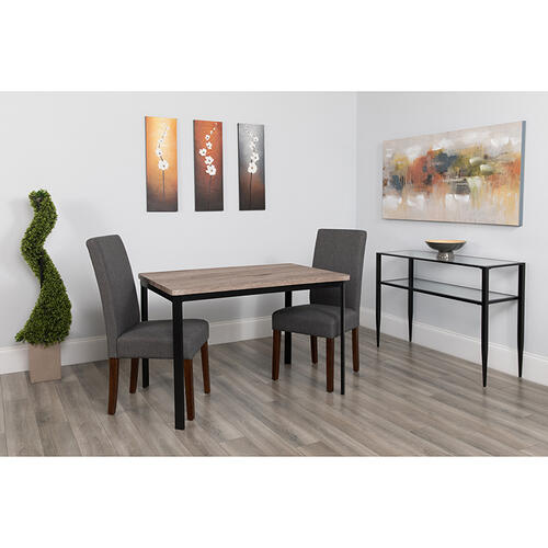 "Avalon 30"" x 45.75"" Rectangular Dining Table in Distressed Gray Wood Finish"