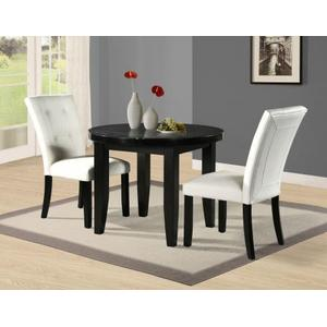 Markina 40 inch Black Marble Top Dining Table