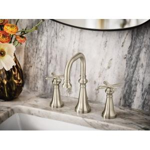 Colinet brushed nickel two-handle bathroom faucet
