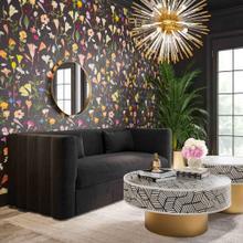 View Product - Callie Black Velvet Sofa