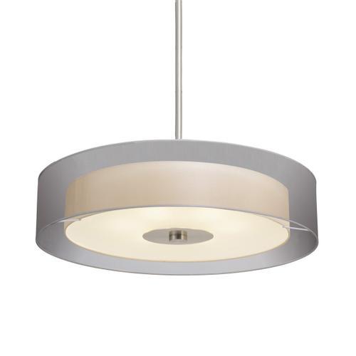 "Sonneman - A Way of Light - Puri Pendant [Size=30"", Color/Finish=Satin Nickel w/Silver Shade]"