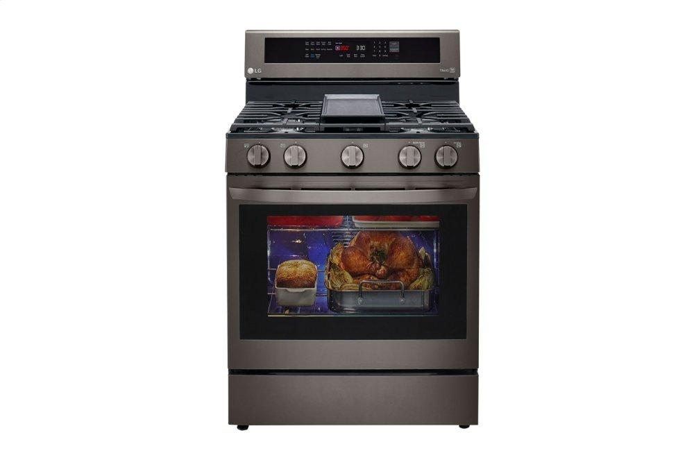 LG Appliances5.8 Cu Ft. Smart Wi-Fi Enabled True Convection Instaview® Gas Range With Air Fry