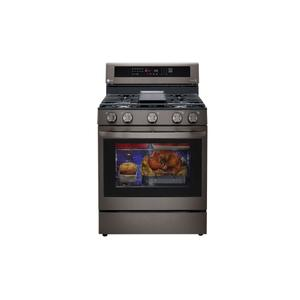 5.8 cu ft. Smart Wi-Fi Enabled True Convection InstaView® Gas Range with Air Fry Product Image