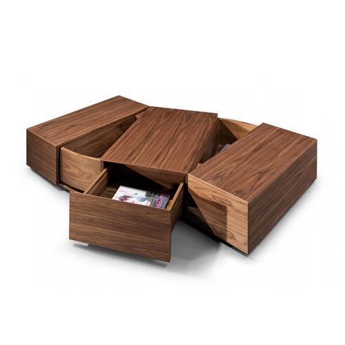 Modrest Leslie Modern Walnut Coffee Table