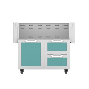 """36"""" Hestan Outdoor Tower Cart with Door/Drawer Combo - GCR Series - Bora-bora"""