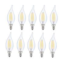 LED E12 CANDELABRA, FLAME TIP, 2700K, 300 °, CRI80, ES, UL, 6W, 40W EQUIVALENT, 15000HRS, LM480, DIMMABLE, 2 YEARS WARRANTY, INPUT VOLTAGE 120V