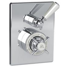 Concealed Godolphin pressure balance mixing valve with white lever 2-way diverter trim only, to suit M1-4101 rough