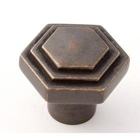 Geometric Knob A1535 - Unlacquered Brass