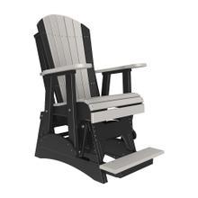 See Details - 2 Adirondack Balcony Glider Chair, Dove-gray-black