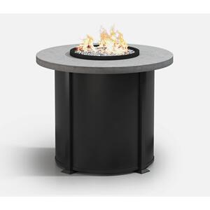 "42"" Round Balcony Fire Table Ht: 34.5"" Valero Aluminum Base (Indicate Top, Frame, & Side Panel Color)"