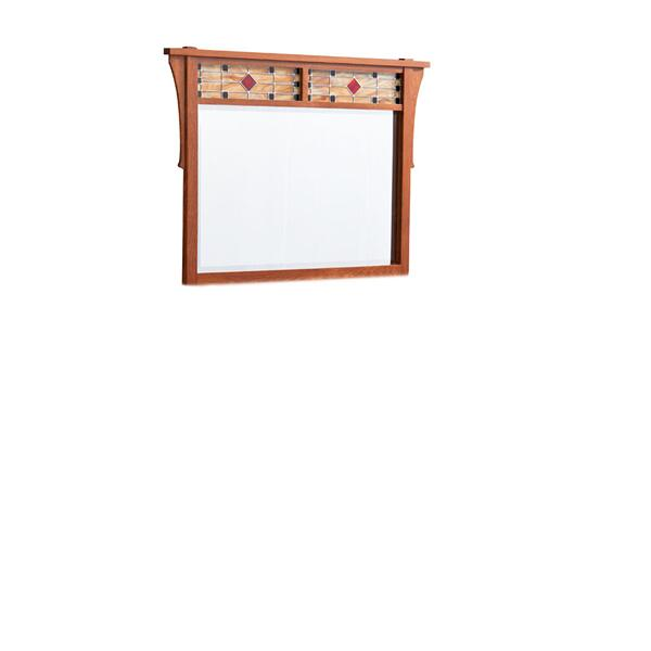 "Grant Mule Chest Mirror with Stained Glass, 46 1/2""w"