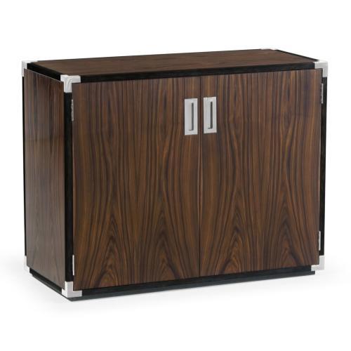 Jonathan Charles - Campaign Style Dark Santos Rosewood Storage Cabinet