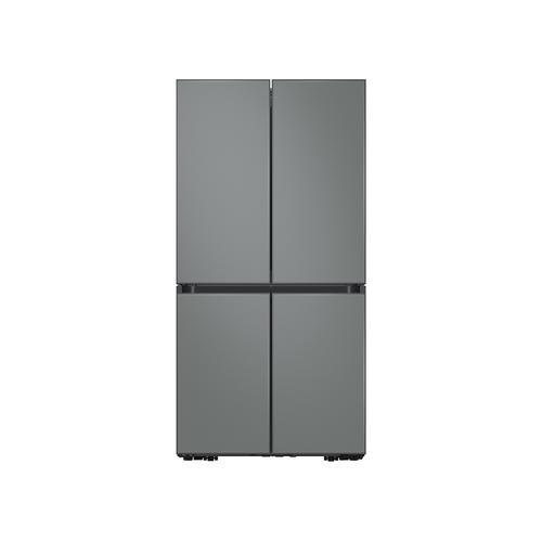 29 cu. ft. Smart BESPOKE 4-Door Flex™ Refrigerator with Customizable Panel Colors in Grey Glass