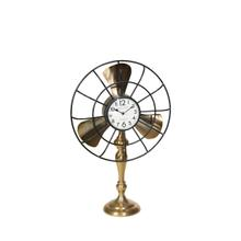 """Product Image - Metal 28"""" Fan-style Table Clock, Gold Kd"""