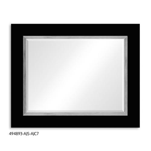 """""""Teal Homespun"""" mirror (Noir/Silver)"""