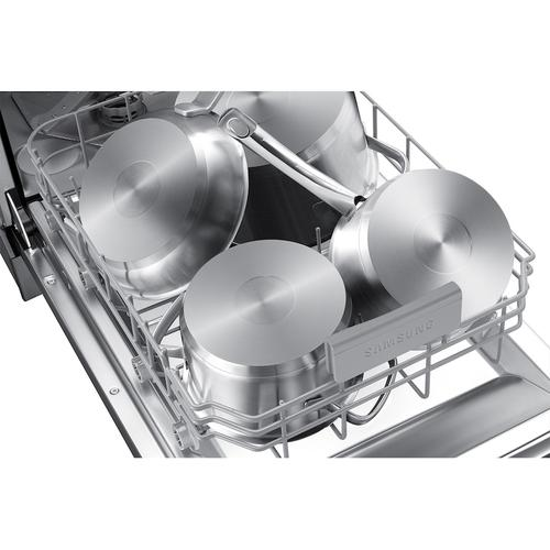Whisper Quiet 46 dBA Dishwasher in Black Stainless Steel