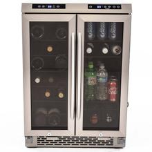 See Details - 19 Bottle / 66 Can Dual-Zone Wine & Beverage Center
