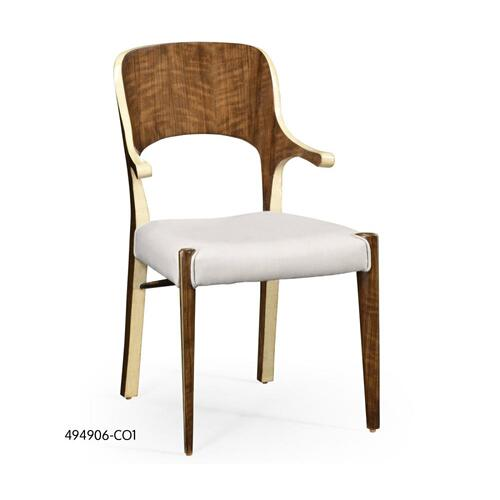 Hyedua and ivory finish armchair