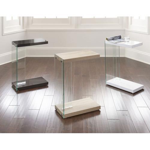 Elaina Chair Side End Table, Light Oak