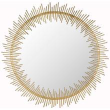 Sunray Circle Mirror - Antique Gold