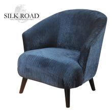 See Details - Silk Road Branded  Shelter Arm Barrel Back Lounge Chair with Tight Seat and Backrest Upholstered