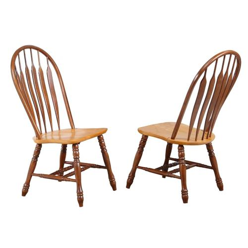 Pedestal Butterfly Leaf Dining Set w/Comfort Arm Chairs (5 Piece)