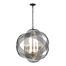 Concentric 7-Light Chandelier in Oil Rubbed Bronze with Clear Crystal Beads