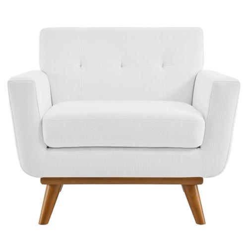 Modway - Engage Upholstered Fabric Armchair in White