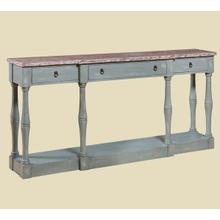 """Cottage"" Seafoam Narrow Console"