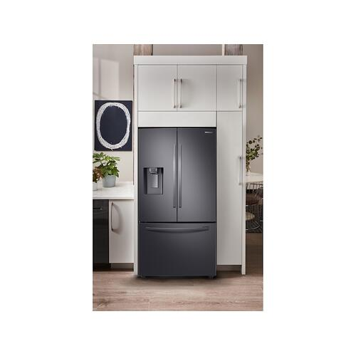 23 cu. ft. 3-Door French Door, Counter Depth Refrigerator with CoolSelect Pantry™ in Black Stainless Steel