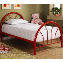 RED TWIN SIZE BED