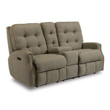 View Product - Devon Power Reclining Loveseat with Console and Power Headrests