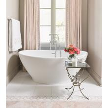 Elise  62-inch Freestanding Tub With Pedestal
