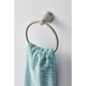 Hilliard brushed nickel towel ring