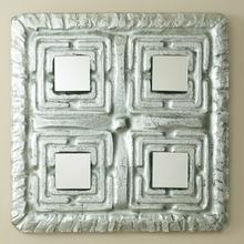 Maze Mirror-Silver Leaf