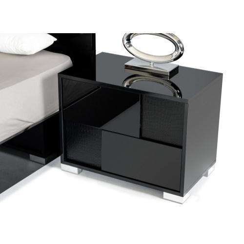 Modrest Grace Italian Modern Black Bedroom Set