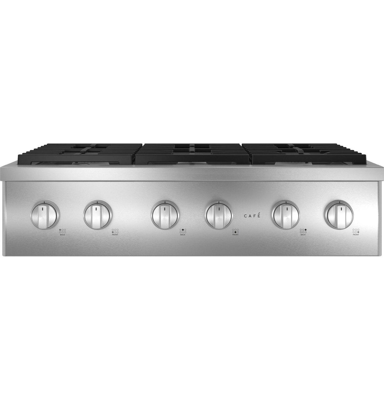 """Cafe AppliancesCafe™ 36"""" Commercial-Style Gas Rangetop With 6 Burners (Natural Gas)"""