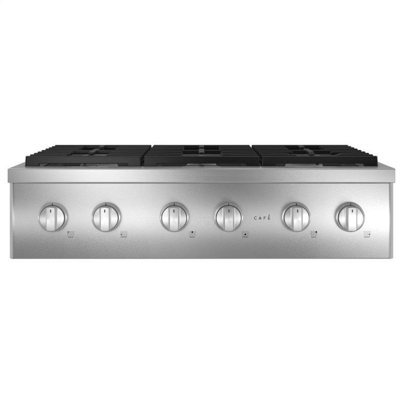 """Cafe™ 36"""" Commercial-Style Gas Rangetop with 6 Burners (Natural Gas)"""