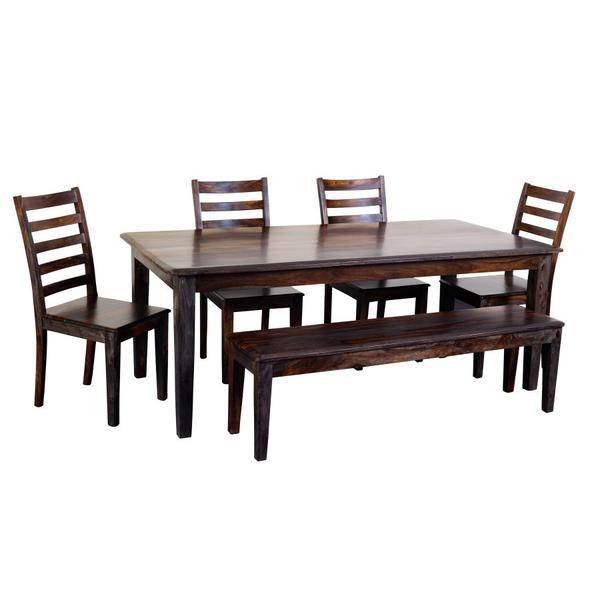 See Details - Sonora Midnight Dining Table, Bench & Chairs, ART-801-MNT