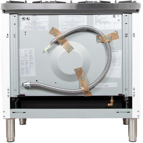 36 Inch White Dual Fuel Natural Gas Freestanding Range