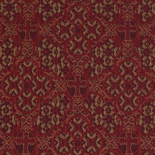 Flash Furniture - HERCULES Series 18.5''W Church Chair in Faith Cranberry Fabric with Book Rack - Gold Vein Frame